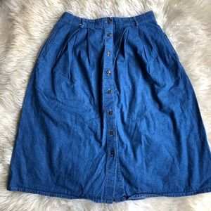Vintage Koret City Blues Mom Jean Skirt Sz 16
